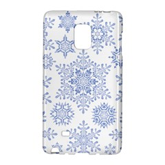 Snowflakes Blue White Cool Galaxy Note Edge by Mariart