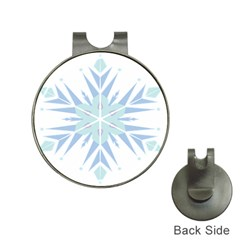 Snowflakes Star Blue Triangle Hat Clips With Golf Markers by Mariart