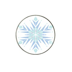Snowflakes Star Blue Triangle Hat Clip Ball Marker (10 Pack) by Mariart
