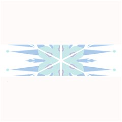 Snowflakes Star Blue Triangle Large Bar Mats