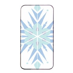 Snowflakes Star Blue Triangle Apple Iphone 4/4s Seamless Case (black) by Mariart