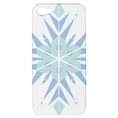 Snowflakes Star Blue Triangle Apple Iphone 5 Hardshell Case by Mariart