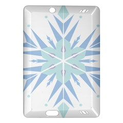 Snowflakes Star Blue Triangle Amazon Kindle Fire Hd (2013) Hardshell Case by Mariart