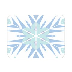 Snowflakes Star Blue Triangle Double Sided Flano Blanket (mini)  by Mariart