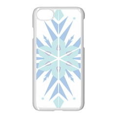 Snowflakes Star Blue Triangle Apple Iphone 7 Seamless Case (white) by Mariart