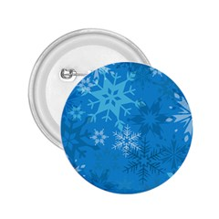 Snowflakes Cool Blue Star 2 25  Buttons by Mariart