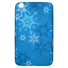 Snowflakes Cool Blue Star Samsung Galaxy Tab 3 (8 ) T3100 Hardshell Case  by Mariart