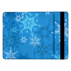 Snowflakes Cool Blue Star Samsung Galaxy Tab Pro 12 2  Flip Case