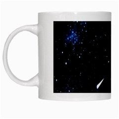 Space Warp Speed Hyperspace Through Starfield Nebula Space Star Line Light Hole White Mugs by Mariart