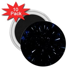 Space Warp Speed Hyperspace Through Starfield Nebula Space Star Line Light Hole 2 25  Magnets (10 Pack)  by Mariart