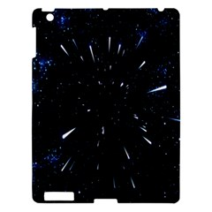 Space Warp Speed Hyperspace Through Starfield Nebula Space Star Line Light Hole Apple Ipad 3/4 Hardshell Case by Mariart