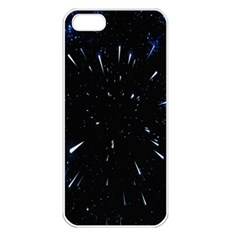 Space Warp Speed Hyperspace Through Starfield Nebula Space Star Line Light Hole Apple Iphone 5 Seamless Case (white) by Mariart