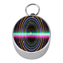 Spectrum Space Line Rainbow Hole Mini Silver Compasses by Mariart