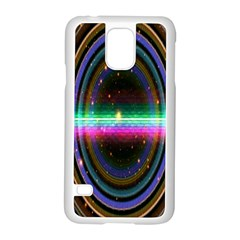 Spectrum Space Line Rainbow Hole Samsung Galaxy S5 Case (white) by Mariart