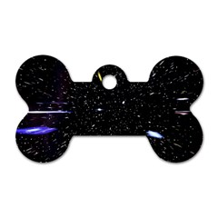 Space Warp Speed Hyperspace Through Starfield Nebula Space Star Hole Galaxy Dog Tag Bone (one Side) by Mariart
