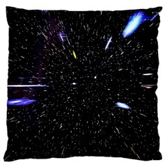 Space Warp Speed Hyperspace Through Starfield Nebula Space Star Hole Galaxy Large Cushion Case (one Side)