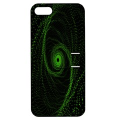 Space Green Hypnotizing Tunnel Animation Hole Polka Green Apple Iphone 5 Hardshell Case With Stand by Mariart