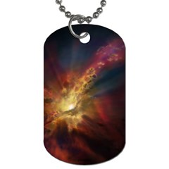 Sun Light Galaxy Dog Tag (two Sides) by Mariart