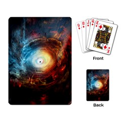 Supermassive Black Hole Galaxy Is Hidden Behind Worldwide Network Playing Card by Mariart