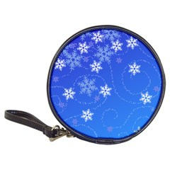 Winter Blue Snowflakes Rain Cool Classic 20 Cd Wallets by Mariart