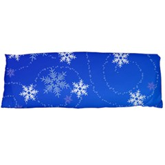 Winter Blue Snowflakes Rain Cool Body Pillow Case (dakimakura) by Mariart