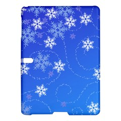 Winter Blue Snowflakes Rain Cool Samsung Galaxy Tab S (10 5 ) Hardshell Case  by Mariart