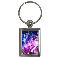 Space Galaxy Purple Blue Key Chains (rectangle)  by Mariart