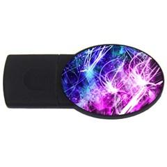 Space Galaxy Purple Blue Usb Flash Drive Oval (4 Gb) by Mariart