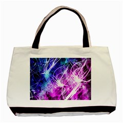 Space Galaxy Purple Blue Basic Tote Bag by Mariart