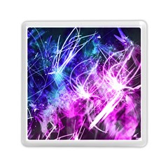 Space Galaxy Purple Blue Memory Card Reader (square)  by Mariart