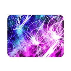 Space Galaxy Purple Blue Double Sided Flano Blanket (mini)  by Mariart