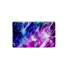 Space Galaxy Purple Blue Cosmetic Bag (xs) by Mariart