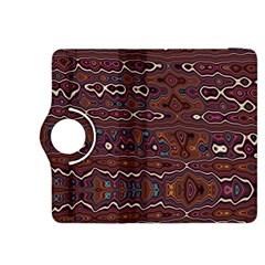 Hippy Boho Chestnut Warped Pattern Kindle Fire Hdx 8 9  Flip 360 Case by KirstenStar