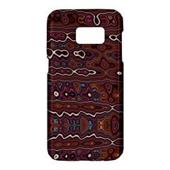 Hippy Boho Chestnut Warped Pattern Samsung Galaxy S7 Hardshell Case  by KirstenStar