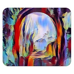 Abstract Tunnel Double Sided Flano Blanket (small)  by 8fugoso
