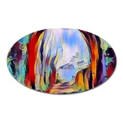 Abstract Tunnel Oval Magnet by 8fugoso