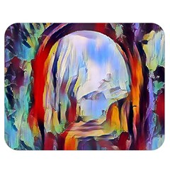 Abstract Tunnel Double Sided Flano Blanket (medium)  by Love888