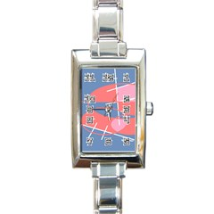 Rectangular Italian Charm Watch by JULIEGEESCOLLECTABLES