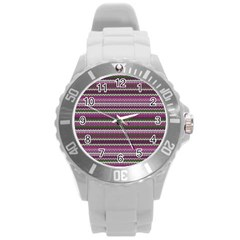 Winter Pattern 2 Round Plastic Sport Watch (l) by tarastyle