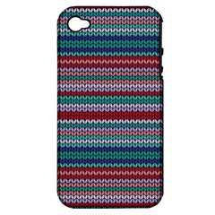 Winter Pattern 4 Apple Iphone 4/4s Hardshell Case (pc+silicone) by tarastyle