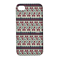 Winter Pattern 5 Apple Iphone 4/4s Hardshell Case With Stand by tarastyle