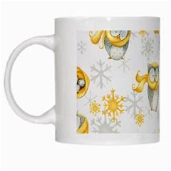 Winter Pattern 6 White Mugs by tarastyle