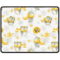 Winter Pattern 6 Fleece Blanket (medium)  by tarastyle