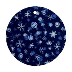Winter Pattern 8 Round Ornament (two Sides) by tarastyle