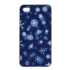 Winter Pattern 8 Apple Iphone 4/4s Seamless Case (black) by tarastyle