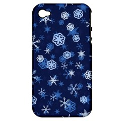 Winter Pattern 8 Apple Iphone 4/4s Hardshell Case (pc+silicone) by tarastyle