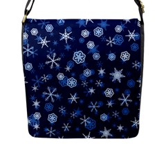 Winter Pattern 8 Flap Messenger Bag (l)  by tarastyle