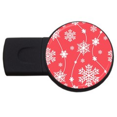 Winter Pattern 9 Usb Flash Drive Round (2 Gb) by tarastyle