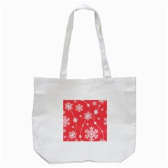 Winter Pattern 9 Tote Bag (white) by tarastyle