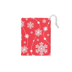 Winter Pattern 9 Drawstring Pouches (xs)  by tarastyle